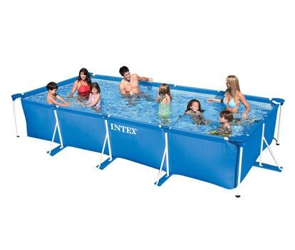 Каркасный бассейн Intex 28273 Rectangular Frame Pool 450х220х84 см .