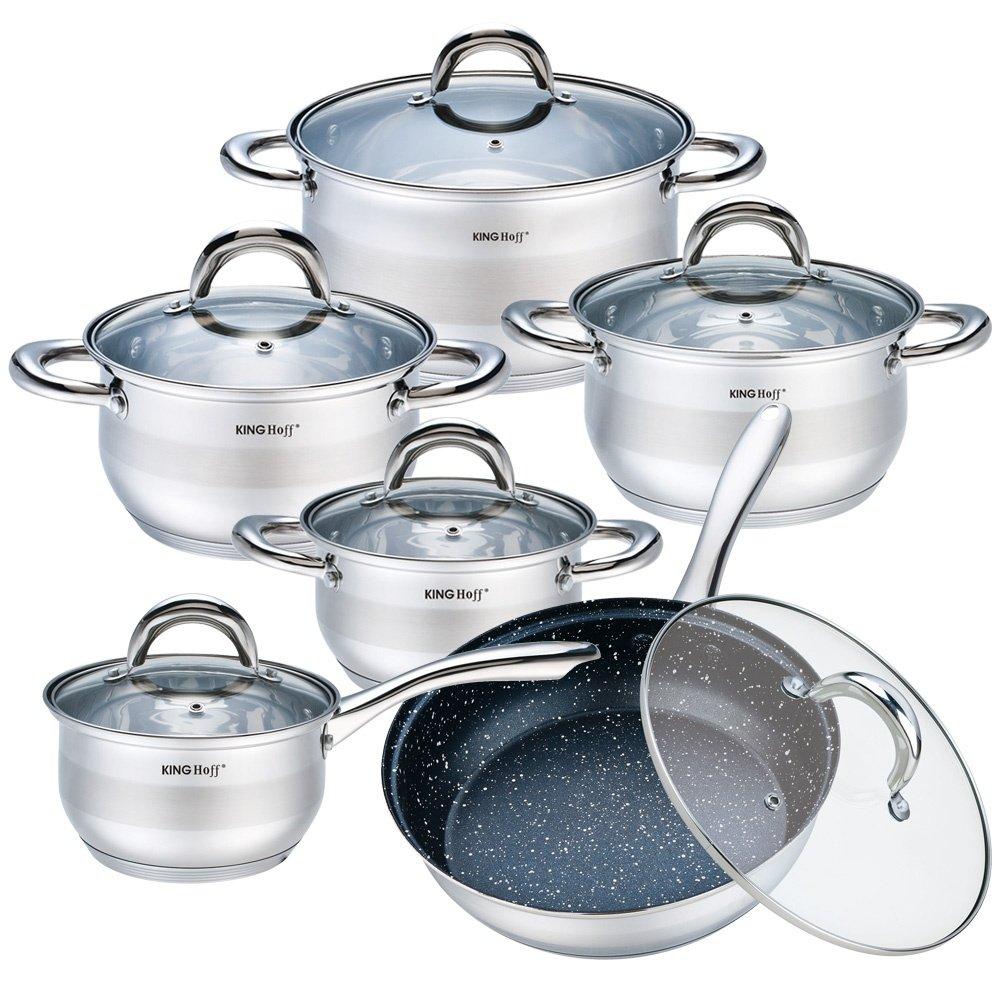 Набор посуды KING hoff KH-1098, 12 предметов