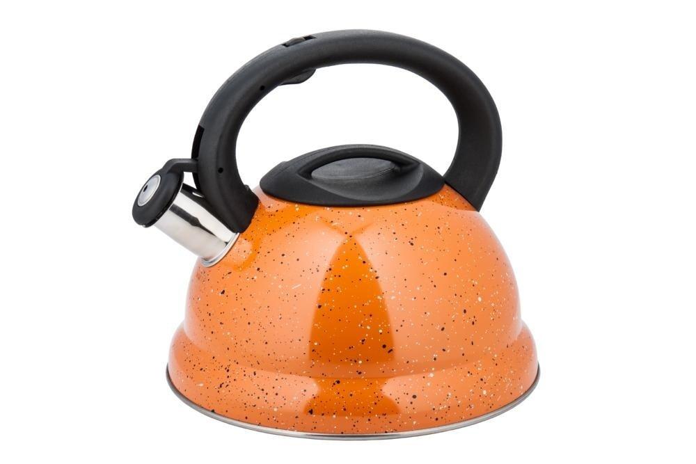 Чайник со свистком KING hoff KH-3787, 3,0 литра, оранжевый